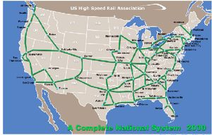 Proposed US High Speed Rail Network