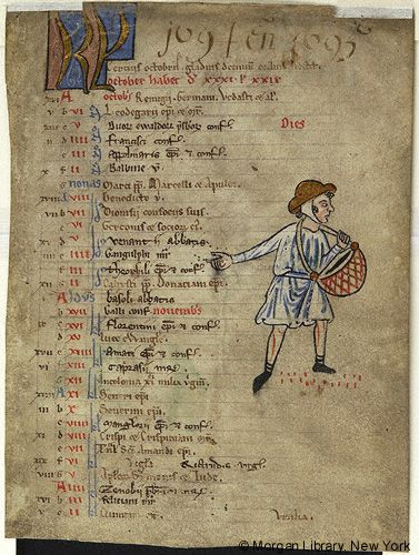 Church Calendar leaves, MS M.908.5 fol. 1r - Images from Medieval and Renaissance Manuscripts - The Morgan Library & Museum