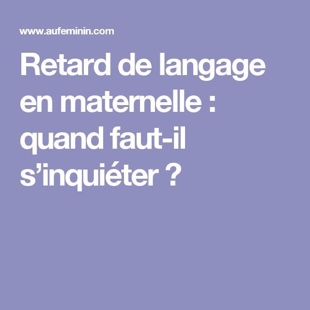 Retard de langage en maternelle : quand faut-il s'inquiéter ?