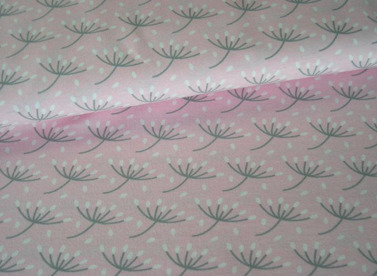 Jersey rosa mit Pusteblumen von meinkaro auf DaWanda.com