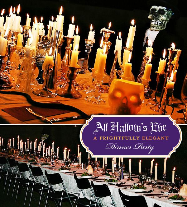 Drippy candles for a centerpiece or mantle would be perfect for Halloween decor or dinner party.