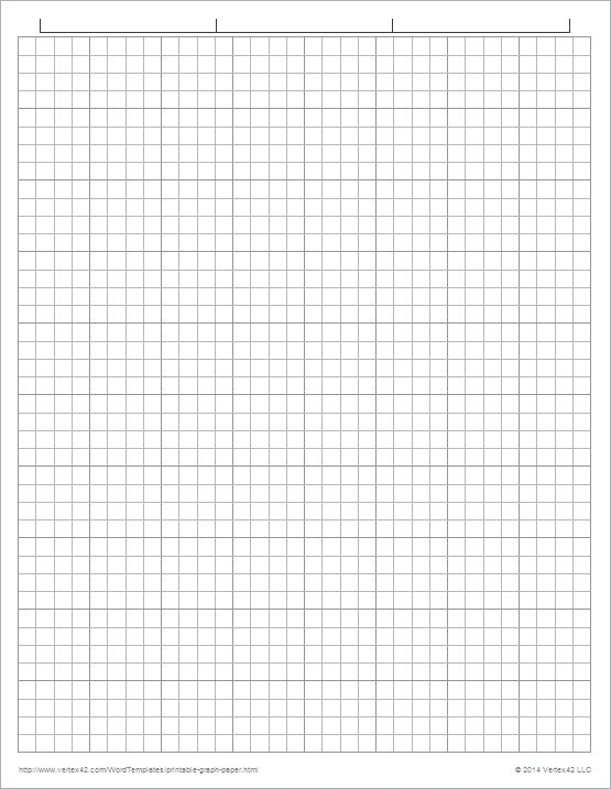 This new set of printable graph paper grids is designed to use nearly the entire piece of 8 1/2 x 11 inch paper. Description from vertex42.com. I searched for this on bing.com/images