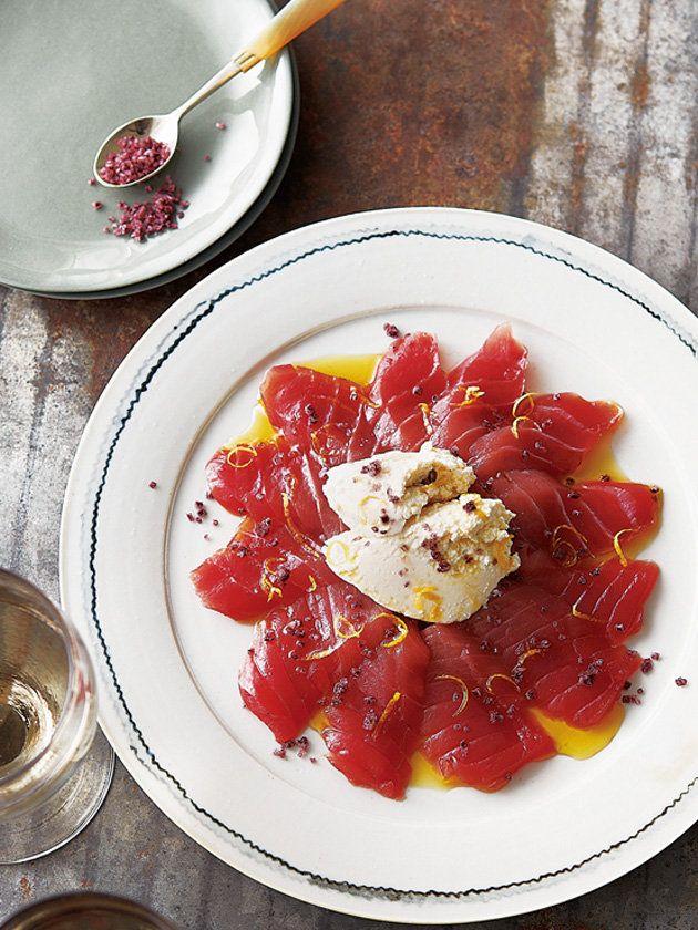 ワイン塩の深みある味がまぐろとリコッタのおいしさをひとつに|『ELLE a table』はおしゃれで簡単なレシピが満載!