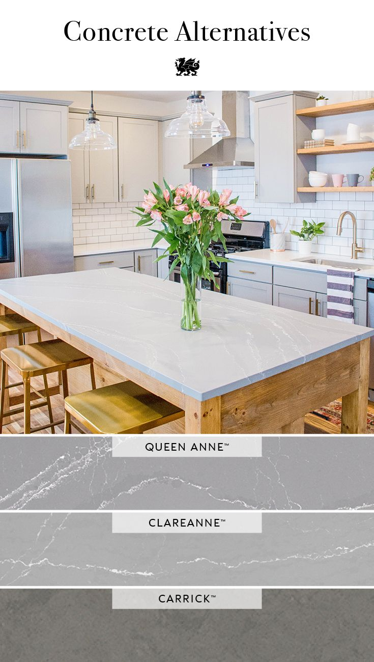 For A Maintenance Free Upgrade From Concrete Countertops Choose Selection Of Gorgeous Gray Cambria This Farmhouse Kitchen