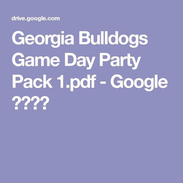 Georgia Bulldogs Game Day Party Pack 1.pdf - Google ドライブ