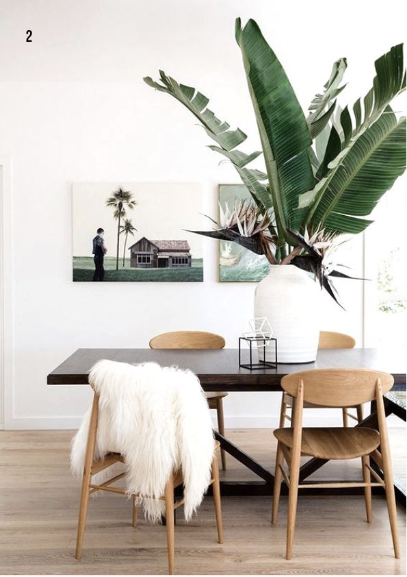 Modernist Dining Room With Major Tropical Style