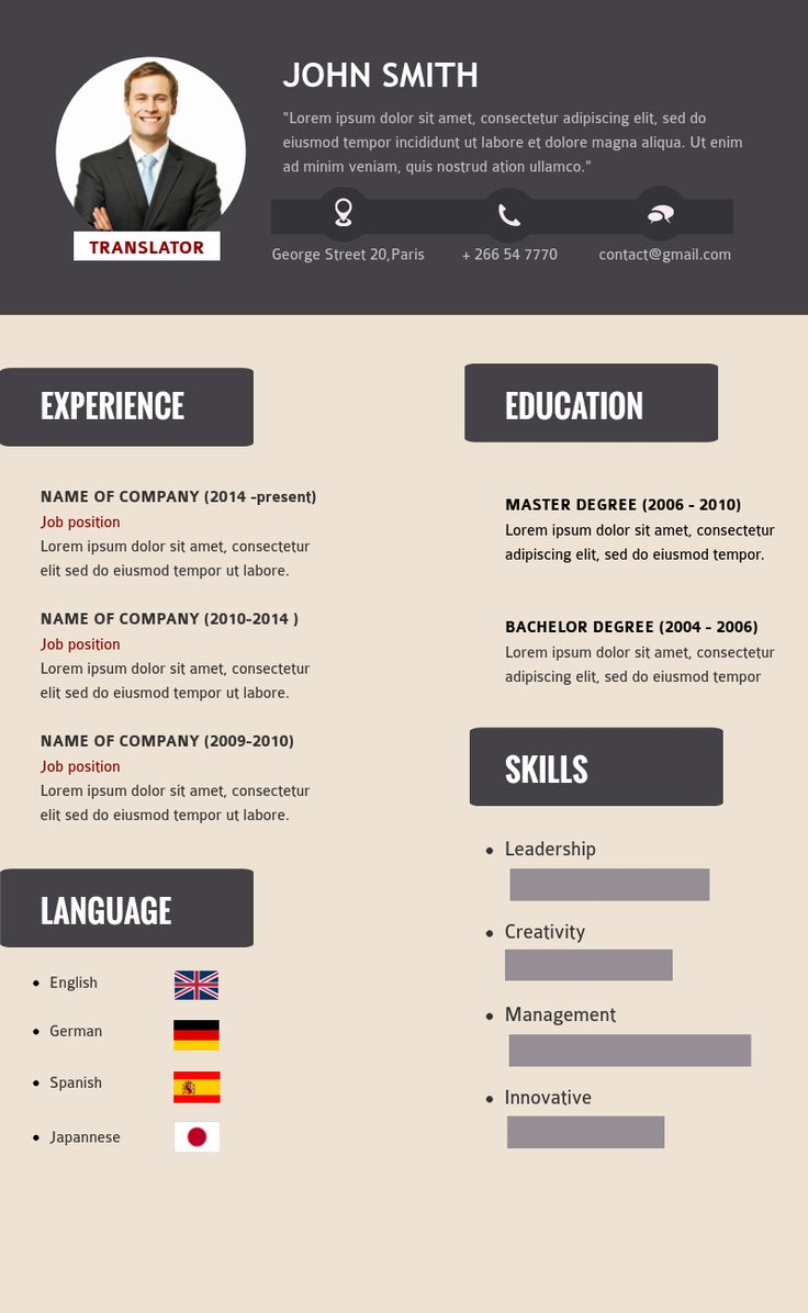 no time to redesign your old resume try using the available resume infographic templates in