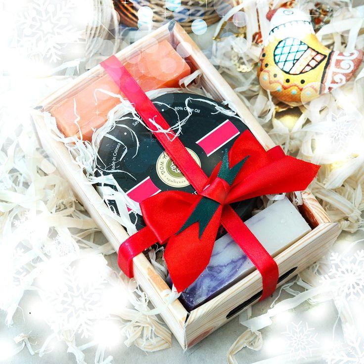 Набор Новогодний Крымский  Лукошко №8 Великолепный подарок из коллекции  натурального крымского мыла и косметики