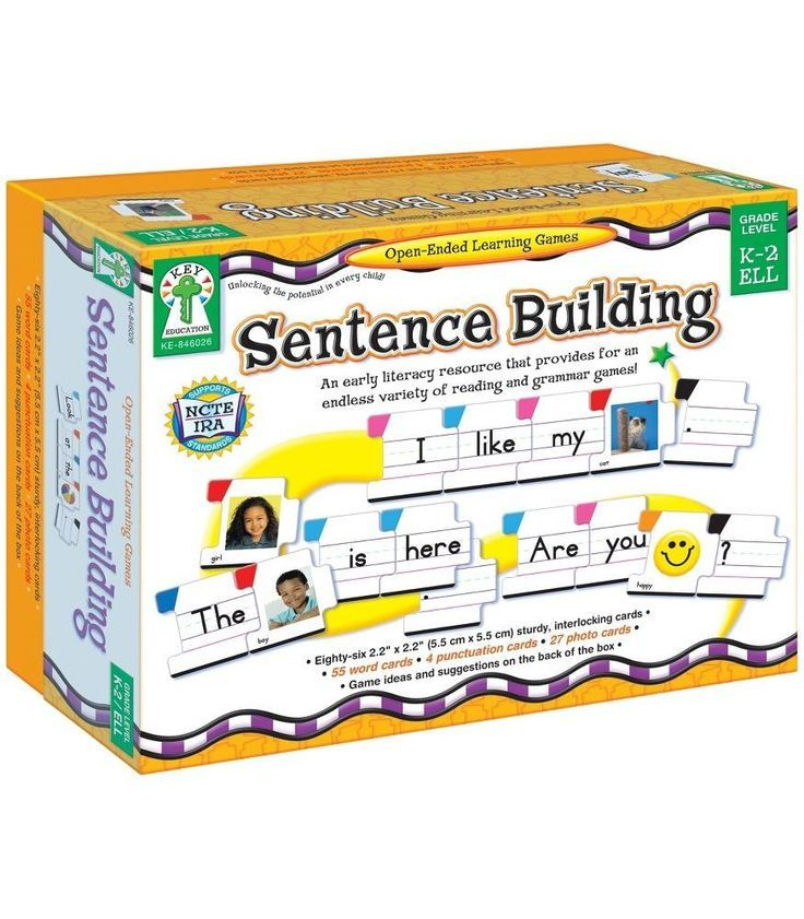Enhance early grammar and reading skills with sturdy, interlocking cards that cover parts of speech, capital letters, punctuation, building sentences, and more! Tailor activities to different learning