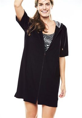 8aa2758a84a0 Plus Size Hooded Terrycloth Swimsuit Cover-Up | Gift ideas for me ...