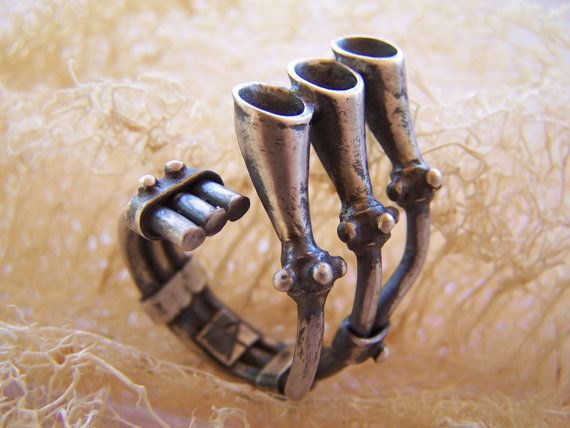 silver strange exhaust pipe organ by archegono on Etsy