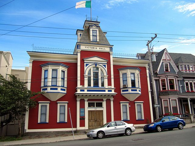 Pretty Victorian Architecture - Downtown St. John's, Newfoundland, Canada