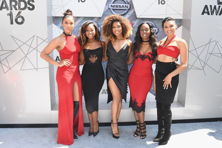 Kristal Lyndriette, Ashley Williams, Shyann Roberts, Brienna DeVlugt and Gabby Carreiro of June's Diary (Photo by Paras Griffin/BET/Getty Images for BET) via @AOL_Lifestyle Read more: http://m.aol.com/article/2016/06/26/2016-bet-award-red-carpet-arrivals-sizzle-with-scandalous-styles/21419386/?a_dgi=aolshare_pinterest#fullscreen