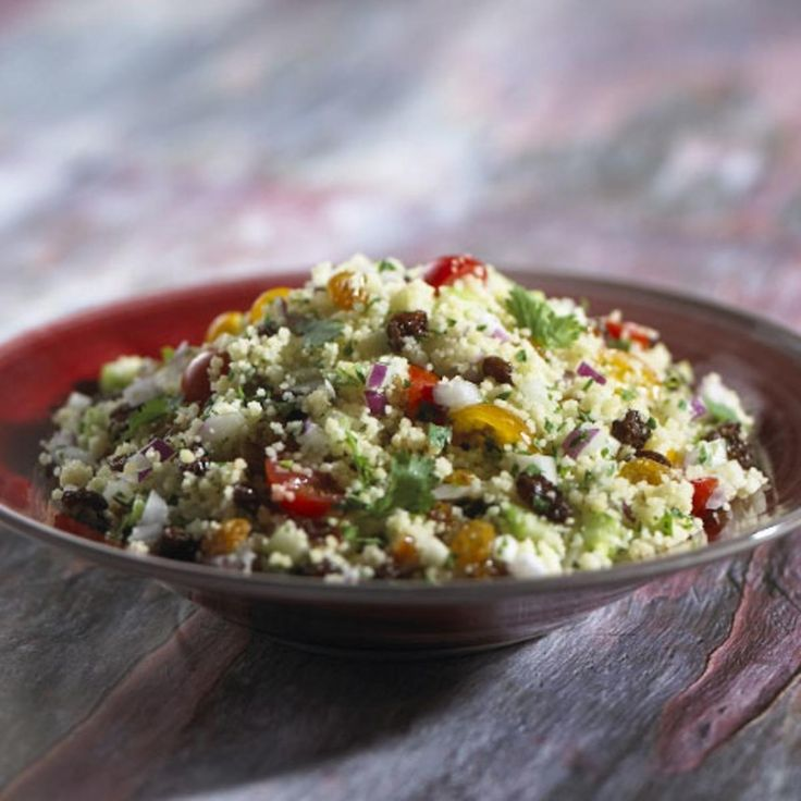 California Raisin Couscous with Vegetables.