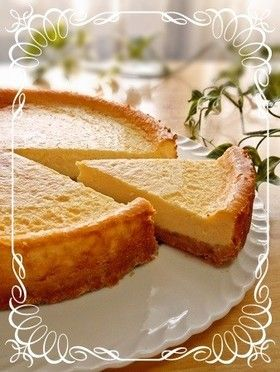 Simple and rich baked cheesecake