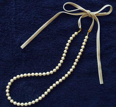 コットンパールのネックレスの作り方|アクセサリー|ビーズ|ハンドメイド・手芸レシピならアトリエ