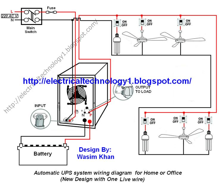 home ups inverter wiring diagram star delta diagrams typical schematic automatic u0026 connection to the simple circuit