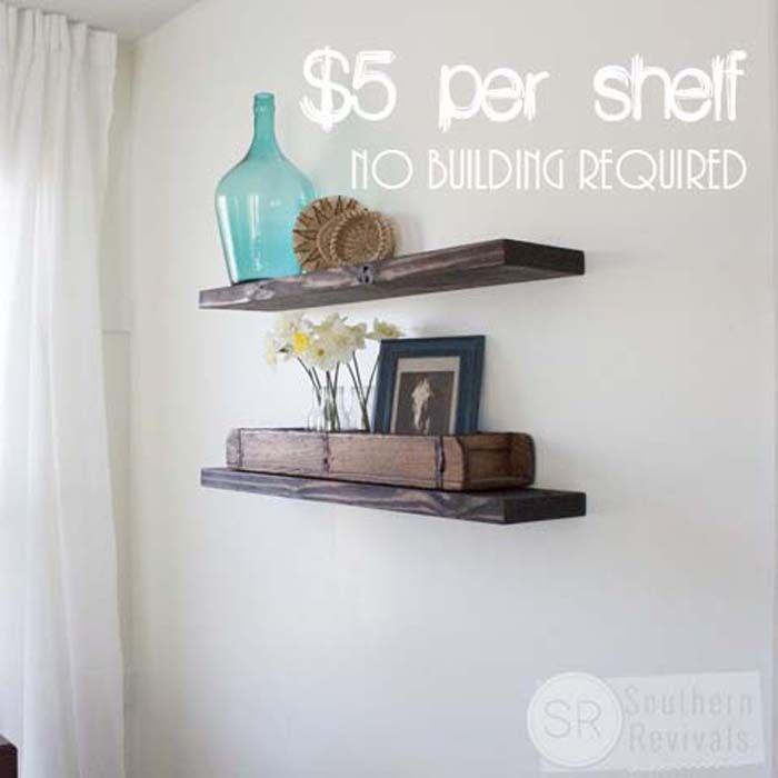 Diy Floating Shelves For Bathroom: Quick, Easy & Budget Friendly DIY Floating Shelves