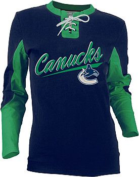 Old Time Hockey Vancouver Canucks Women's Adina Laceup Jersey T-Shirt  - Shop.NHL.com