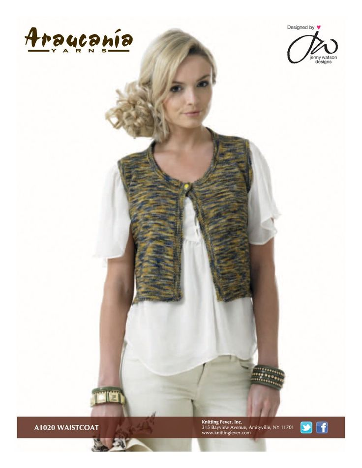 430 best knit women\'s vests images on Pinterest | Free pattern ...
