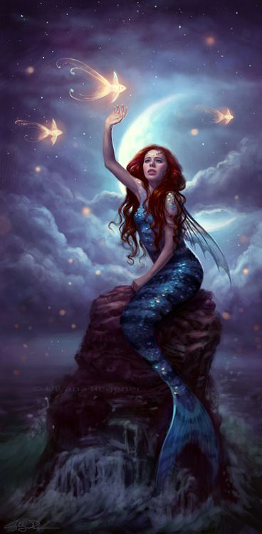 dream-mermaid...they dream anything, and it comes true...they see what others cant