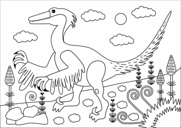 Troodon Coloring Page Coloring Pages Dinosaur Coloring Pages