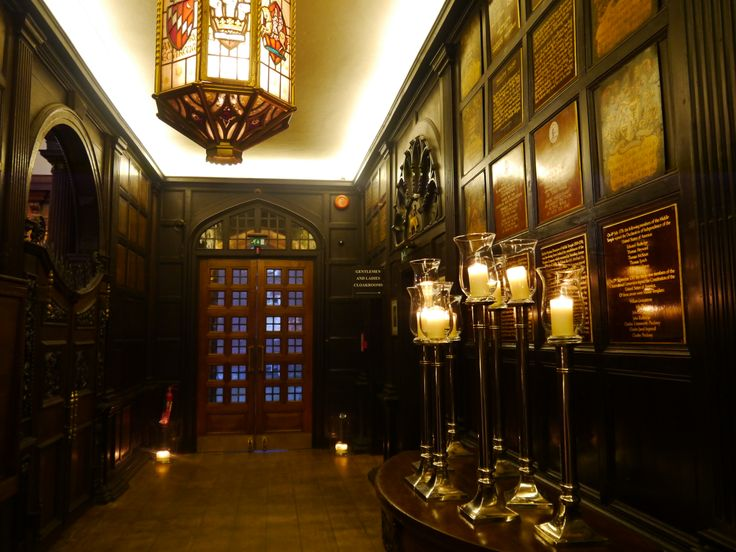 Hall entrance lit up by lovely candles