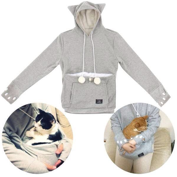 Sweater with pouch for cat but good for my lil doggie