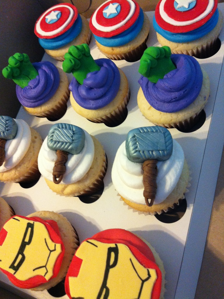 Ideas For Cup Cakes Useing Avengers
