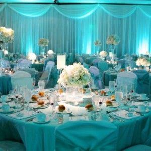 Black white turquoise wedding ideas