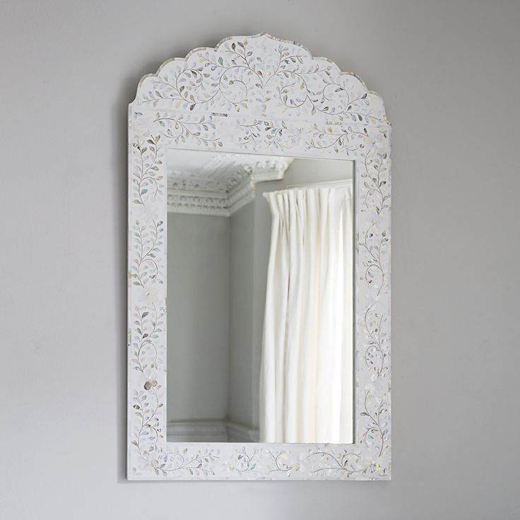 Fleur Mother Of Pearl Arch Mirror In Pearly White Www