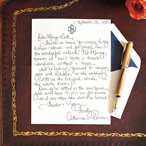 how to write to nun to thank her
