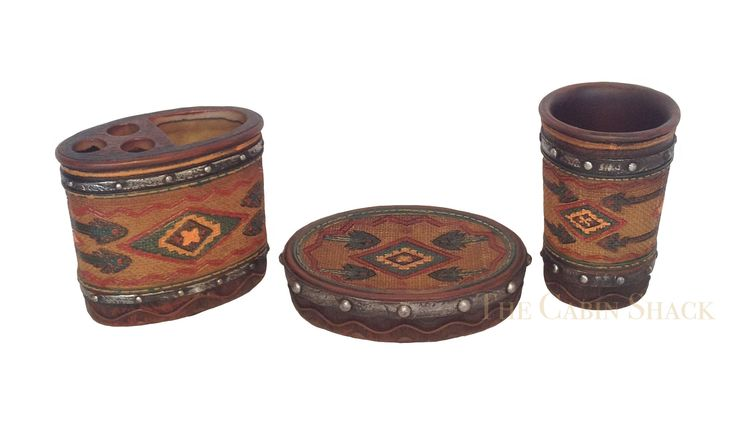 Southwestern Aztec 3 Piece Bathroom Set