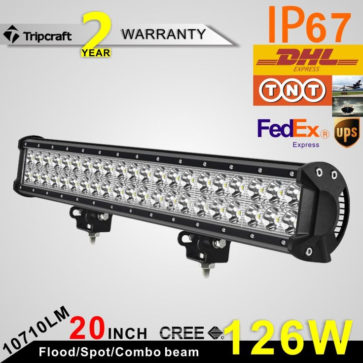 Automotive 126W 20 Inch LED Light Bar Double row Tractor Boat Off-Road 4WD 4x4 12v 24v Truck SUV ATV Spot Flood Working Light