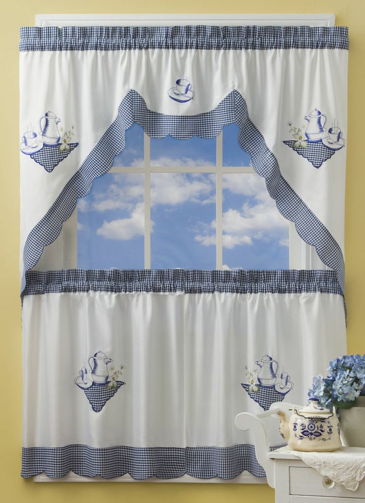 blue kitchen curtain sets maribo intelligentsolutions co
