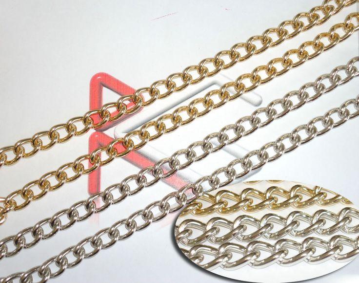 #catena #catene #alluminio anallergica per #borse #borsa #collane #collana #bracciali #bracciale #bigiotteria #bijoux #moda #fashion #chains #chains #RGchains  http://www.ebay.it/itm/3-mt-CATENA-ALLUMINIO-MAGLIA-NORMALE-PER-CONTORNO-BORSE-E-BIJOUX-A30OGP-/171049174197?rd=1