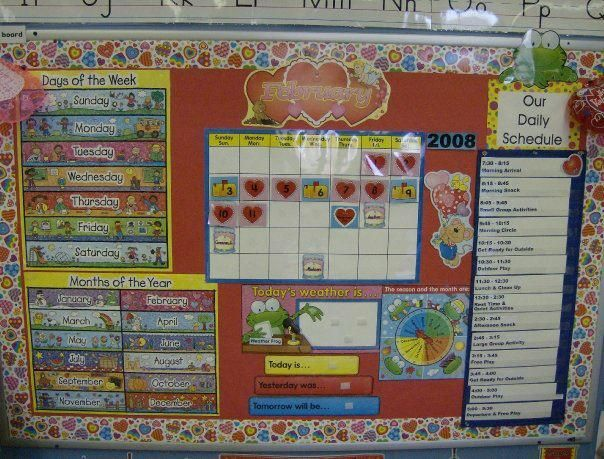 Classroom Schedule Ideas : Pre k bulletin board for schedule ideas decorating