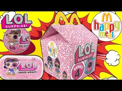 lol surprise series 4 mcdonalds happy meal | lol decoder  lol surprise under wraps diy happy
