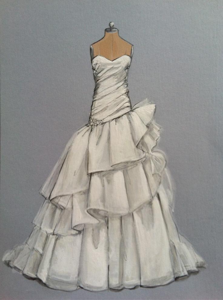 1000 images about forever your dress wedding dress Wedding dress illustration