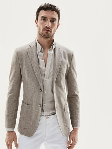 Fall Winter 2017 Men´s SLIM FIT KNIT HERRINGBONE BLAZER at Massimo Dutti for 139. Effortless elegance!