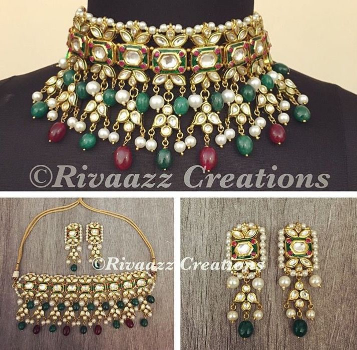 191 best Kundan mina jewellery images on Pinterest Bridal