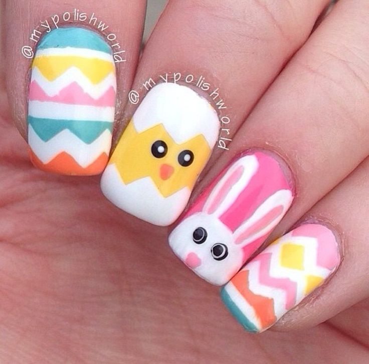 These are the cutest easter nails ever!!!!!!