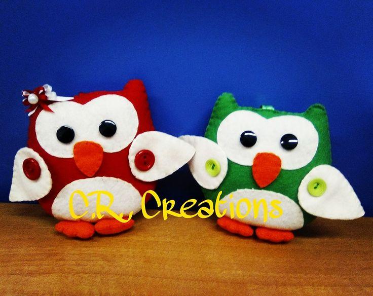 gufetti portachiavi in pannolenci #portachiavi #keychain #gufo #owl #felt #handmade