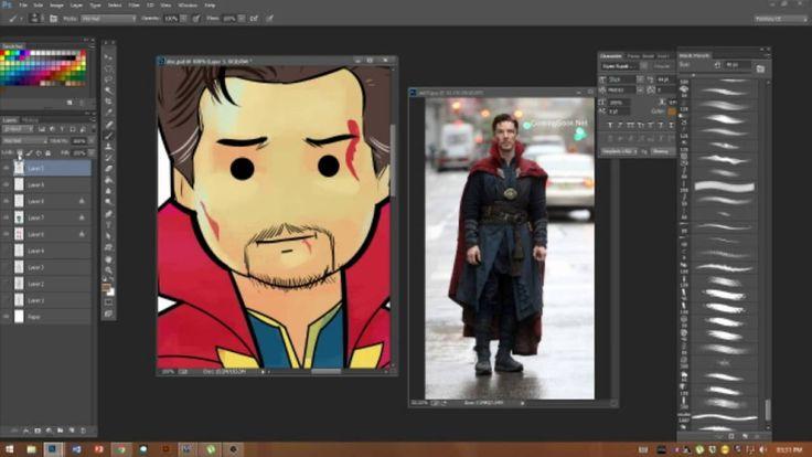 Doctor strange character design.