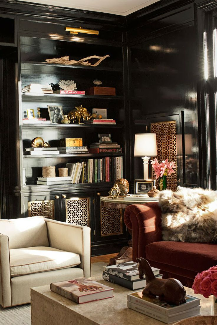 Black wall painted rooms