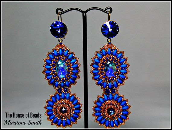 Swarovski Ultra Blue AB Crystal and Superdous by TheHouseofBeads