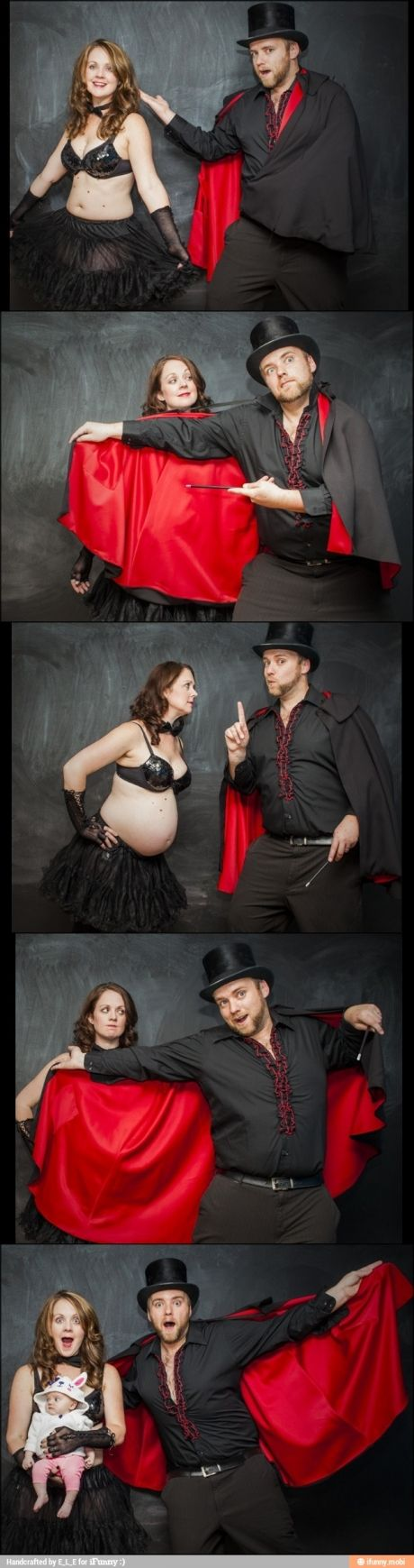 This is how pregnancy works, right?  --  I'm not usually big on cheesy pregnancy pictures, but these are actually pretty cute!