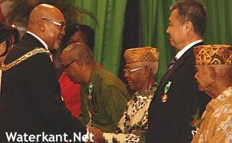 Lintjesregen ivm Onafhankelijkheidsdag Suriname