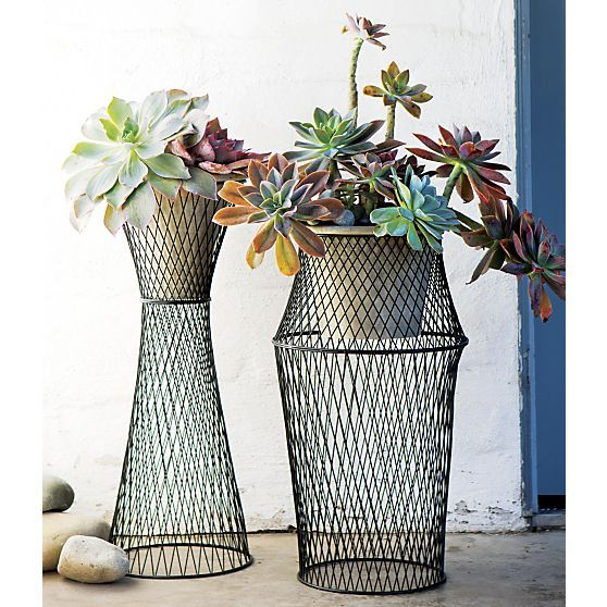 Sabio Tall Wire Statuary in Garden, Patio | Crate and Barrel