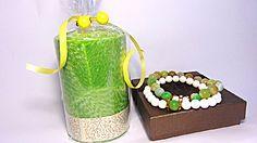 """Подарочный набор """"Бхарат"""" свеча+браслет зеленый 407877540"""
